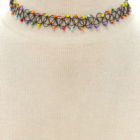 Beaded Tattoo Choker