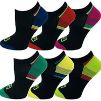 6 Pairs Fila Ankle Socks for Men Women Kids Sports Low Cut No Show Arch Support Moisture Wicking Bulk Pack