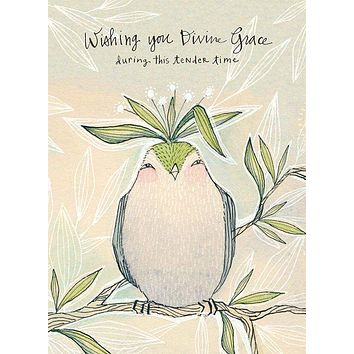 Wishing You Divine Grace During This Tender Time Greeting Card