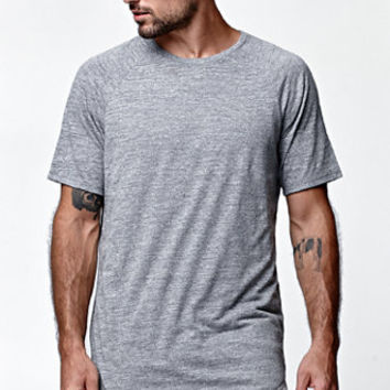 On The Byas BB Texture Scallop Longline Crew T-Shirt at PacSun.com