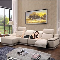 Luxury Wide Sectional Recliner Electrical Couch