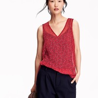 Old Navy Womens Floral Chiffon Tanks