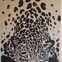 """""""Tiger in the Beach"""" 40x70 Combed cotton Beach Towel"""
