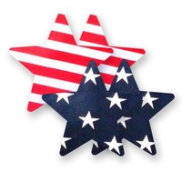 Bristols Six | Nippies Nipple Cover Pasties Concealers Adhesive Waterproof Stars and Stripes Heart