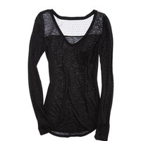 Aerie Comfiest T-shirt with Lace | Aerie for American Eagle