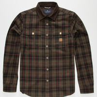 Roark Nordsman Mens Flannel Shirt Olive  In Sizes