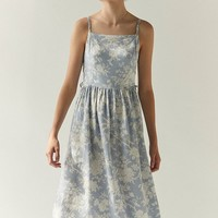 Laura Ashley & UO Lace-Up Midi Dress | Urban Outfitters