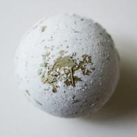 Soothing Eucalyptus Bath Bomb, All Natural Soothing Bath Bomb with Eucalyptus, Sea Salt, Epsom Salt, and Kaolin Clay, Get Well Gift