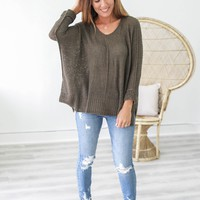 How About Now Sweater - Olive