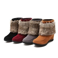 Fur Snow Boots Wedges Women Shoes Fall|Winter 5216