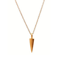 Gold Vermeil Arrowhead Charm Necklace - Rachael Ryen Jewelry