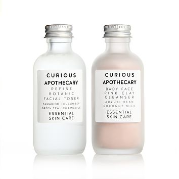 Refine Facial Toner and Baby Face Pink Clay Cleanser Set by Curious Apothecary