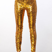 The Gilded Leggings in Gold