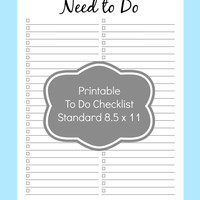 Printable To Do List, Checklist Printables, Planner Pages, Discbound Planner Refills