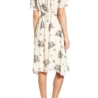 June & Hudson Floral Print Wrap Dress | Nordstrom