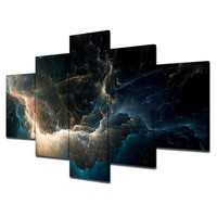 No Frame Abstract Space Star Strom Pictures Nebula Modular Oil Canvas Painting for Home Living Room Diy Decor on the Wall