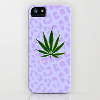Cheetah Print Kush Leaf iPhone Case by Kush and Daisies | Society6