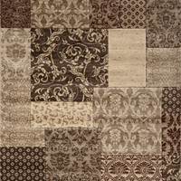 Beverly Collection Classic Area Rug, Ivory Abstract Print