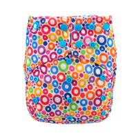 All In Two Cloth Diaper,Colorful Circles