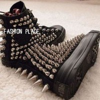 DCCKGQ8 studed converse shoes converse all star studed shoes personality fashion stud shoes