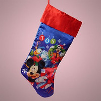 Adorable Disney Christmas Stockings! Happy Holidays! X-Large Version-Mickey Mouse