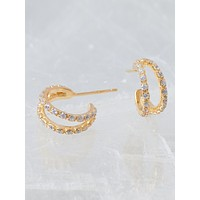 Nysa Huggie Hoop Earrings