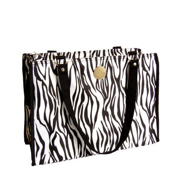 New York Dog Zippered Pet Carrier Tote Zebra