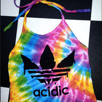 SWEET LORD O'MIGHTY! TIEDYE ACIDIC HALTER