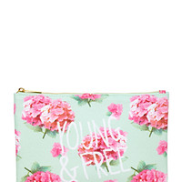 Floral Print Cosmetic Pouch