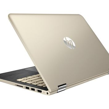 """HP - Pavilion x360 2-in-1 13.3"""" Touch-Screen Laptop - Intel Core i5 - 8GB Memory - 128GB Solid State Drive - Modern Gold"""