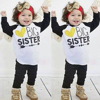 Toddler Cotton Long Sleeve Print T-shirt Casual Clothes