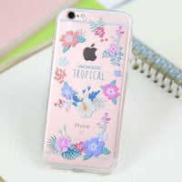 Pretty Flower Case for iPhone 5s 5se 6 6s Plus Gift 318