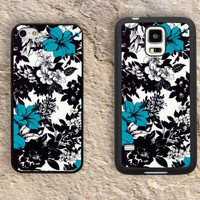 Black White Flower Pattern iPhone Case-Beautiful floral iPhone 5/5S Case,iPhone 4/4S Case,iPhone 5c Cases,Iphone 6 case,iPhone 6 plus cases,Samsung Galaxy S3/S4/S5-229