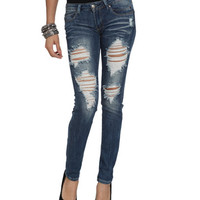 Destroyed Skinny Jean | Shop Just Arrived at Wet Seal