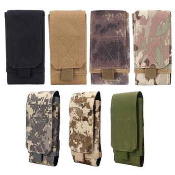 6 Inches Tactical Holster MOLLE Army Camo Camouflage Bag Hook Loop Belt Pouch Holster Cover Case For The Mobile Phone Case
