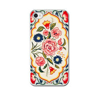 Vintage Tea Tin, iPhone 5 4 4s Case, Cell Phone Case, Vintage Tin Floral Pink Paisley, Colorful,  Accessory  iPhone