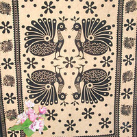 Twin Cotton Multi Peacock Tapestry Wall Hanging Bedspread Hippie Bohemian Throw Ethnic Home Decor