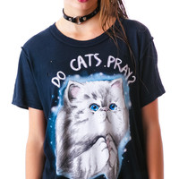 UNIF Do Cats Prey? Short Sleeves Tee Faded Black