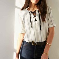 BDG Tavi Lace-Up Blouse