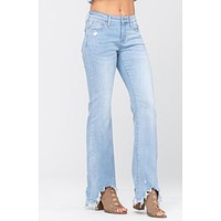 Judy Blue Shark Bite Hem Bootcut 8819