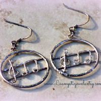 Music Note Hoop Earrings, Woman, Direct Checkout, Glitter ,Ready to Ship,G note