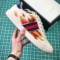 Gucci Ace Embroidered Low Top Sneakers Style 2 - Best Online Sale