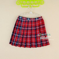 Kawaii Campus style Women's Plus Size Xs-4xl Uniforms Skirt For Women Students High Quality High waist Plaid pleated skirts