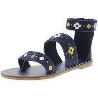 Soludos Womens Suede Studded Gladiator Sandals
