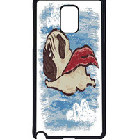 Flying Pug  For Samsung Galaxy Note 4 Case *