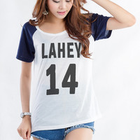Isaac Lahey TShirt Fashion Blogger Funny Tumblr Womens Girls Teens Sassy Cute Gifts Tops Teenager Hipster Instagram Twitter Raglan Tee