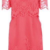 Jersey Lace Bardot Dress - Topshop