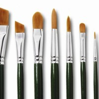One Stroke INT1299 Folk Art One-Stroke Completer Brush Set with 8 Paintbrushes