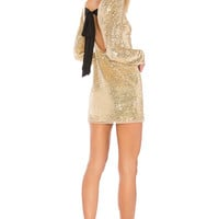RACHEL ZOE Racko Sequin Mini Dress in Gold