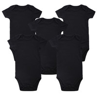 Newly Unisex Place Baby Girl Boy Clothing Newborn Baby Bodysuit Black 100% Soft Cotton 0-12 Months Short Sleeve Baby Clothes